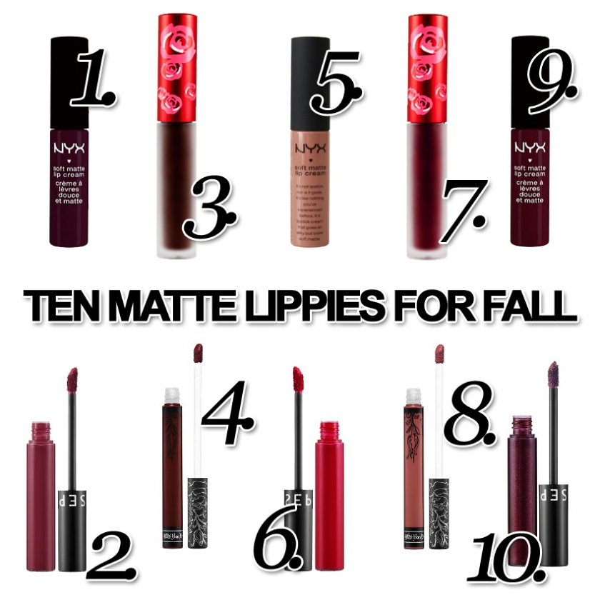TEN MATTE LIPPIES FOR FALL