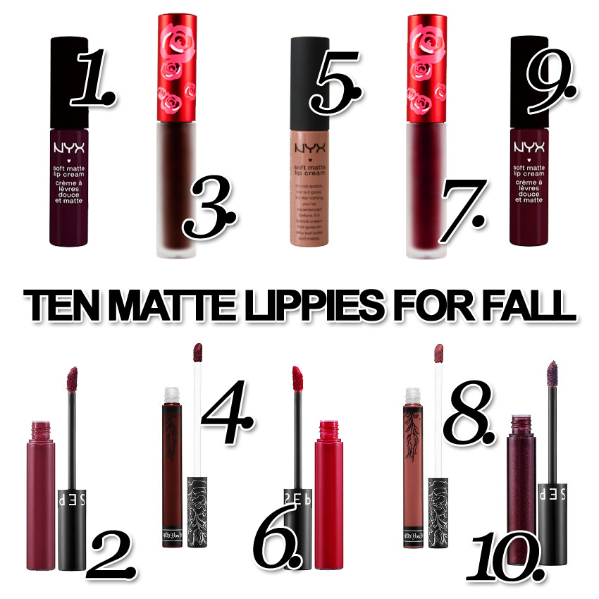 FALLIN' FOR A KISS: FALL LIP COLORS