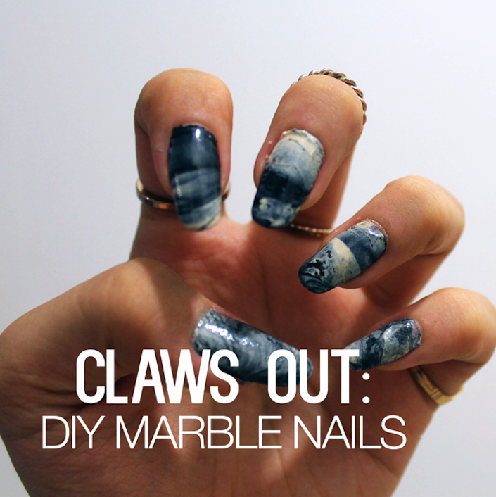 CLAWS OUT: DIY Marble Nails