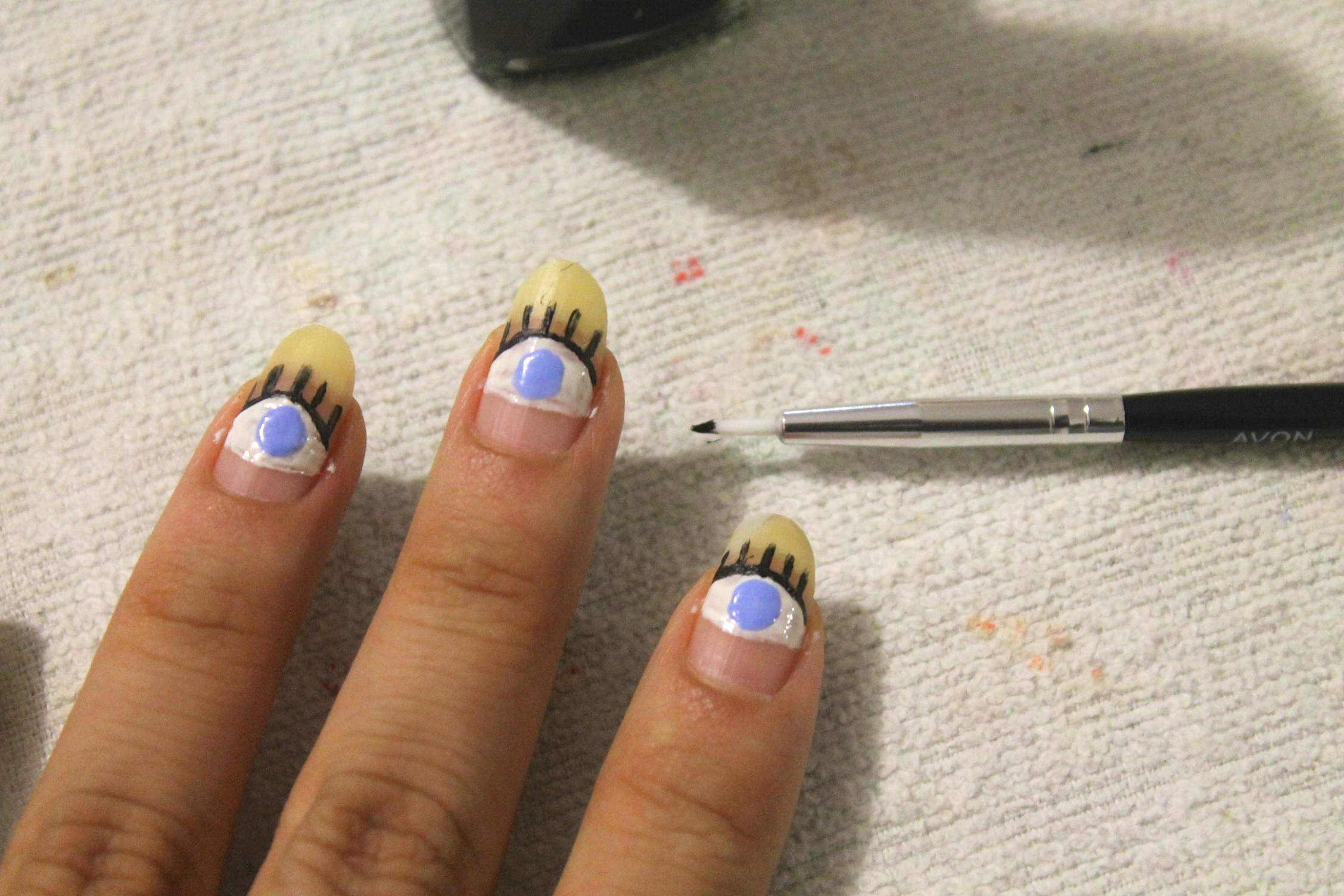 DIY Evil Eye Nails