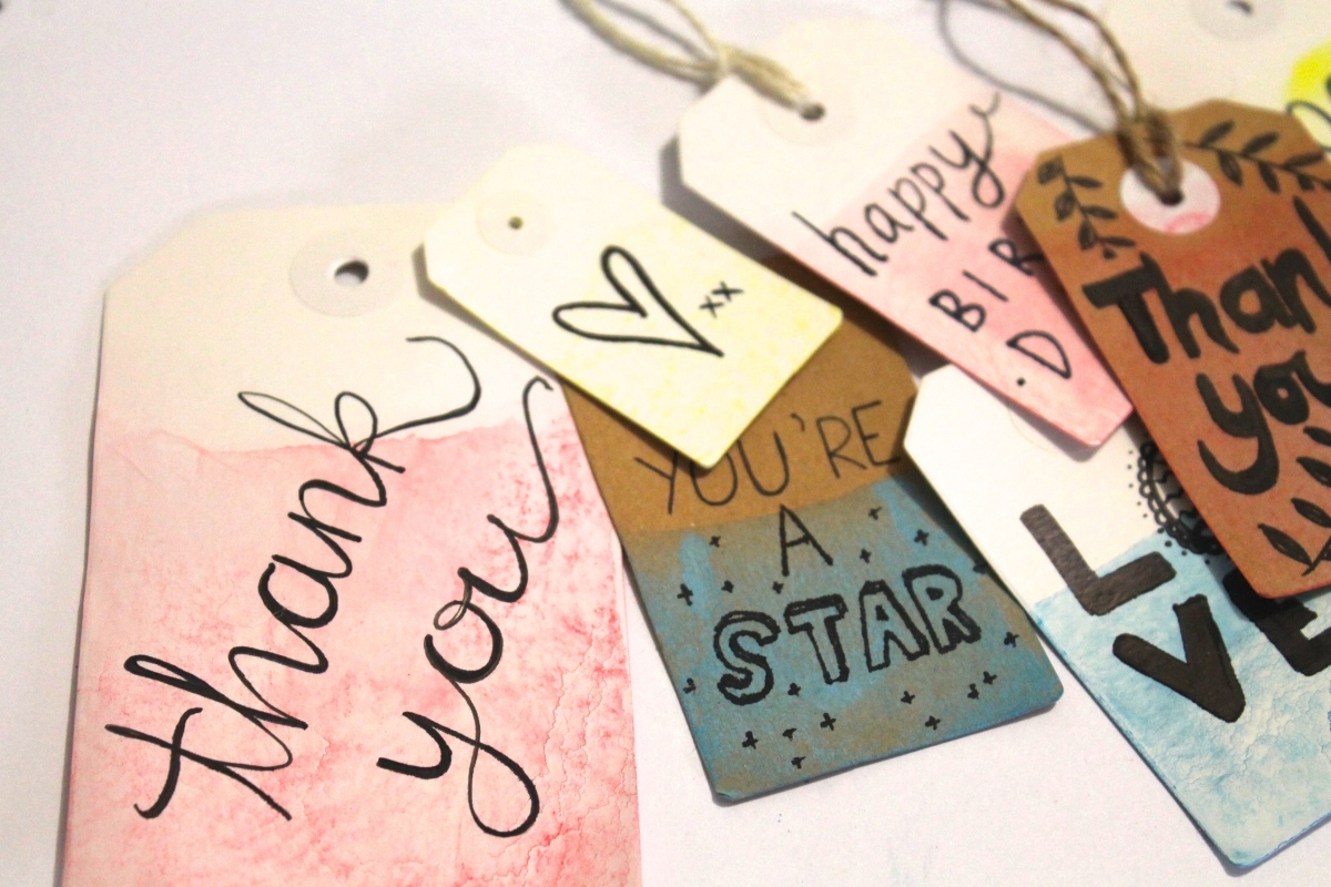 DIY Dipped Gift Tags