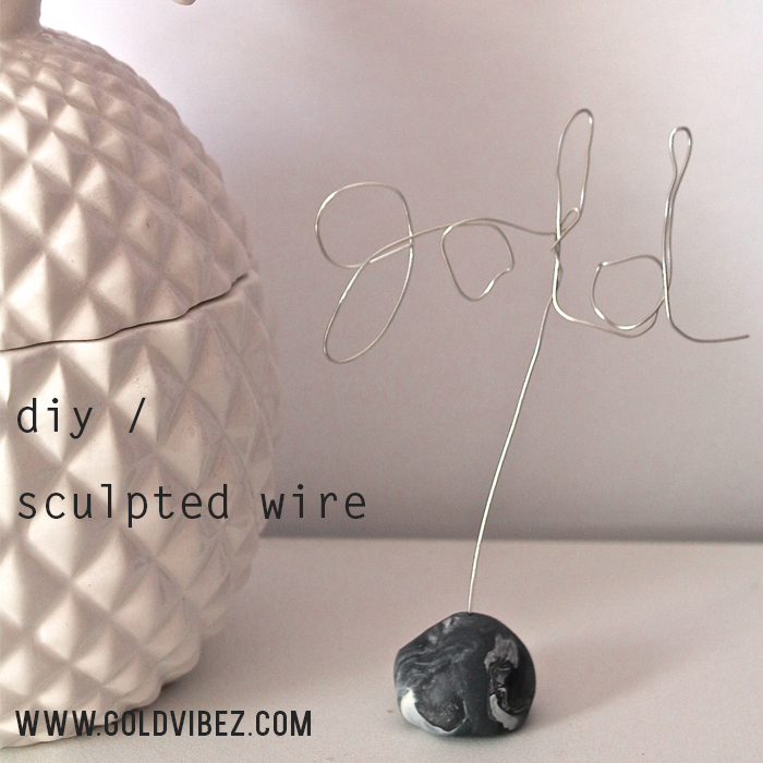 DIY Sculpted Statement Wire