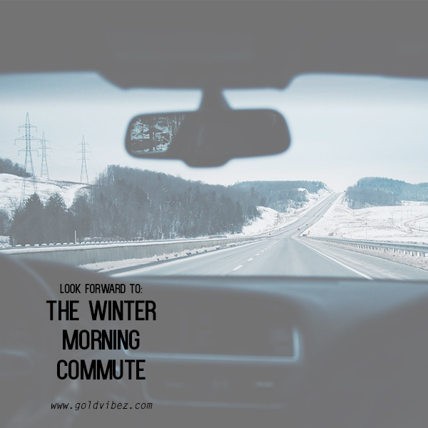 LOOK FORWARD TO: The Winter Morning Commute