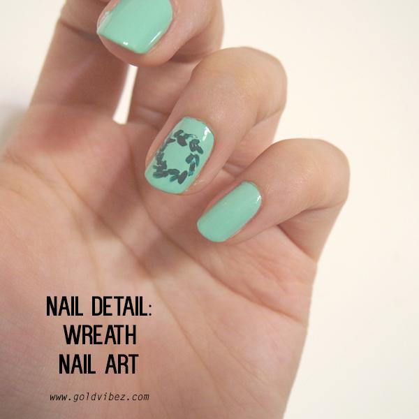 NAIL DETAIL: Wreath nailart